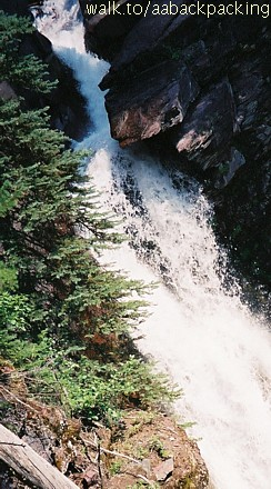 top of Baring Falls in mid-summer